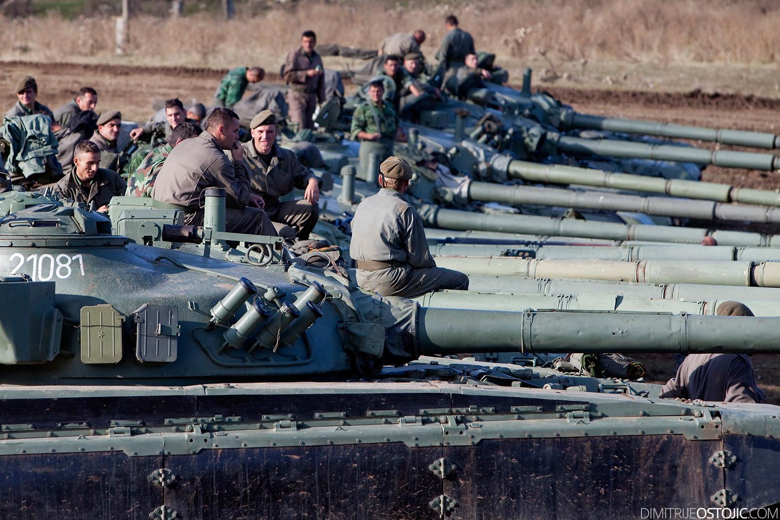 Tank M-84 Serbian Army ,military exercise Odlucan Odgovor 2009, Serbia, Pesterska visoravan, Oktobar 2009 © www.dimitrijeostojic.com