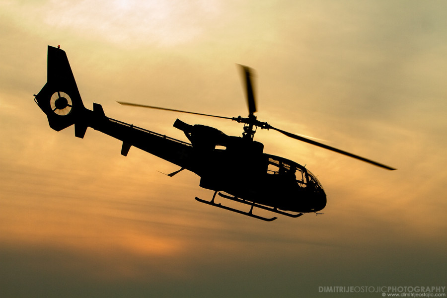 Senke - Shadows / Sa-341 Gazelle © Dimitrije Ostojic