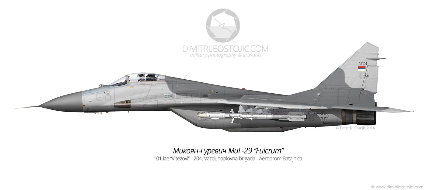 MiG-29 Fulcrum 18101 - color profile by Dimitrije Ostojic / www.dimitrijeostojic.com
