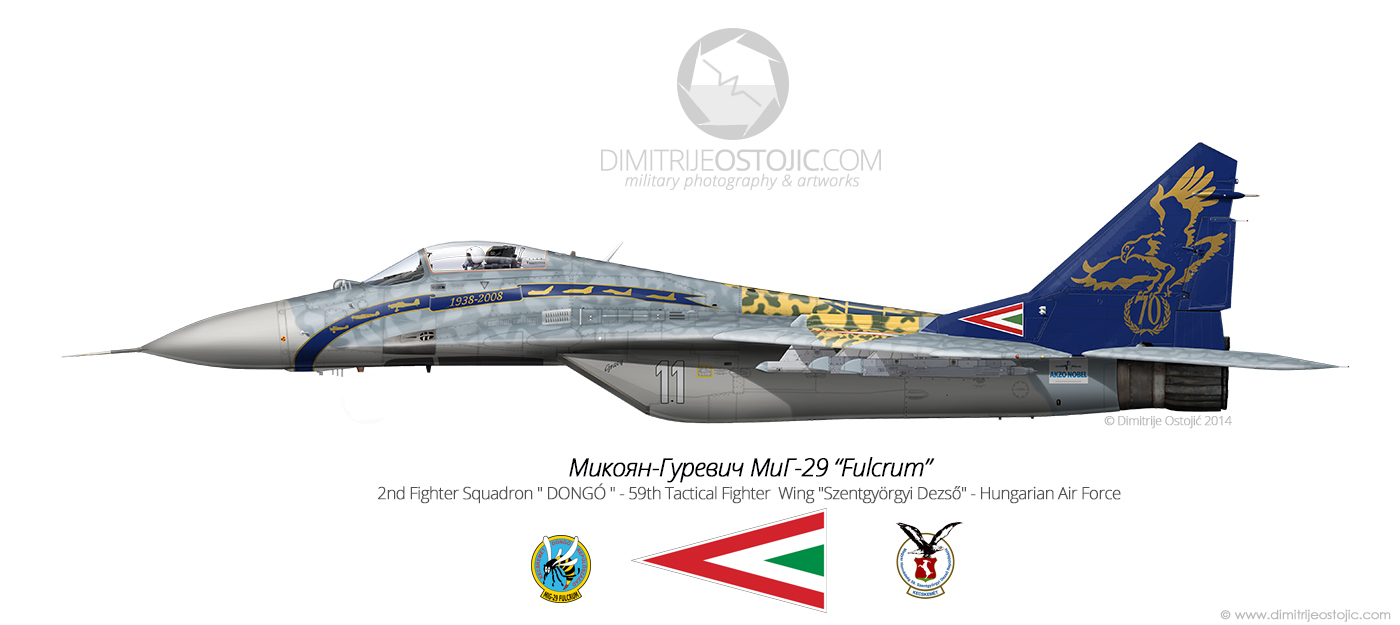 MiG-29 Fulcrum no 21 59th Tactical Fighter Wing - Hungary  Air Force - photo: Dimitrije Ostojic / www.dimitrijeostojic.com