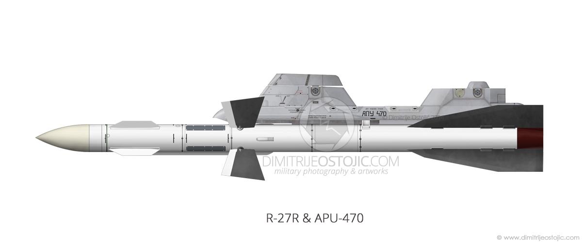 R-27R and APU-470 profile by Dimitrije Ostojic / www.dimitrijeostojic.com
