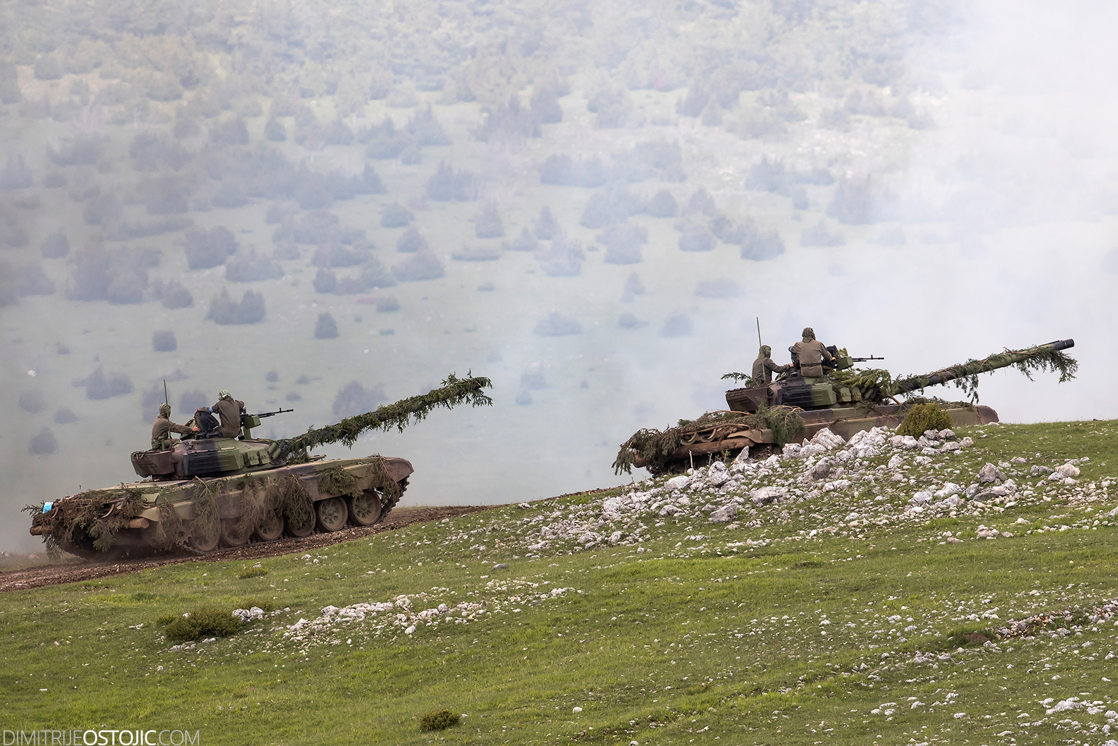 "Pešterska visoravan, Serbia - June 02, 2016 Serbian Army large-scale military exercise ""Morava 2016""."