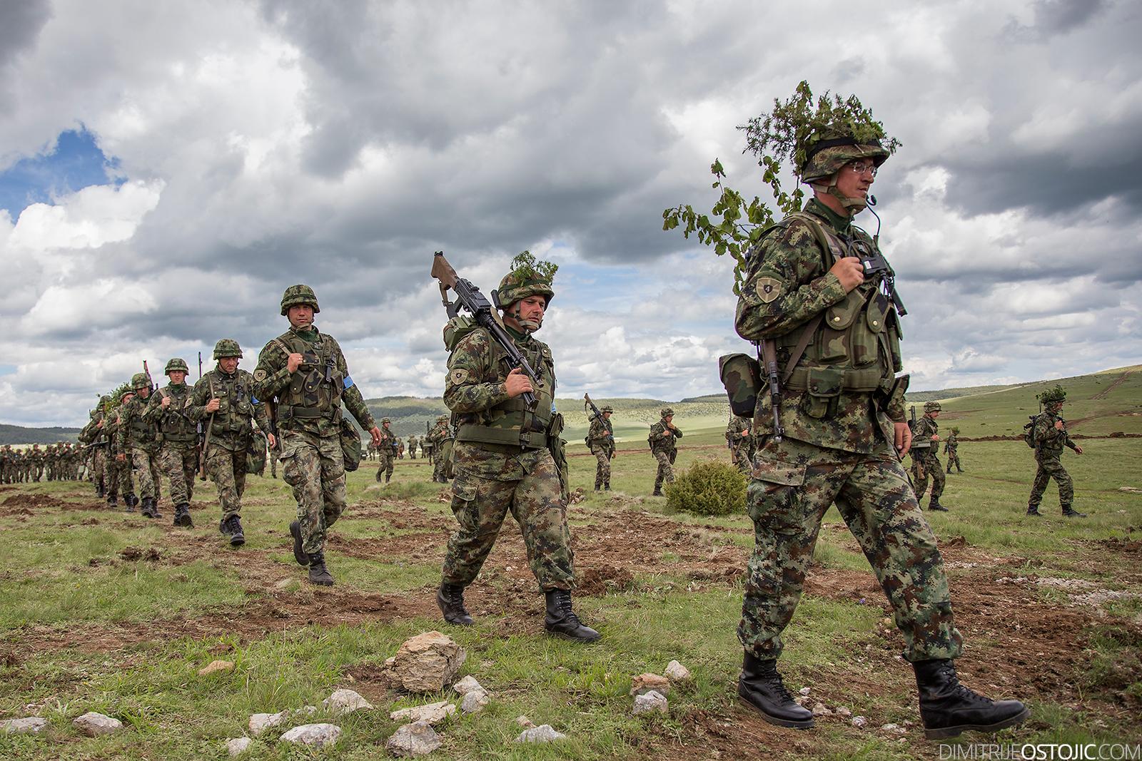"Pešterska visoravan, Serbia - June 02, 2016 Serbian Army large-scale military exercise ""Morava 2016""."